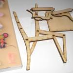 雑誌「DOLLY BIRD(ドーリーバード)」のゴシック家具付録DIY!