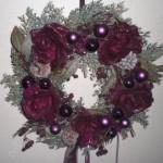 ゴシック薔薇リース飾りで壁が華やかに♪Xmasやハロウィンにも◎