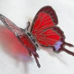蝶のマグネットが華やかゴシック☆黒アイアンにとまらせてみる